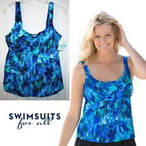 NWT in Package Beach Belle Flared Tankini Top